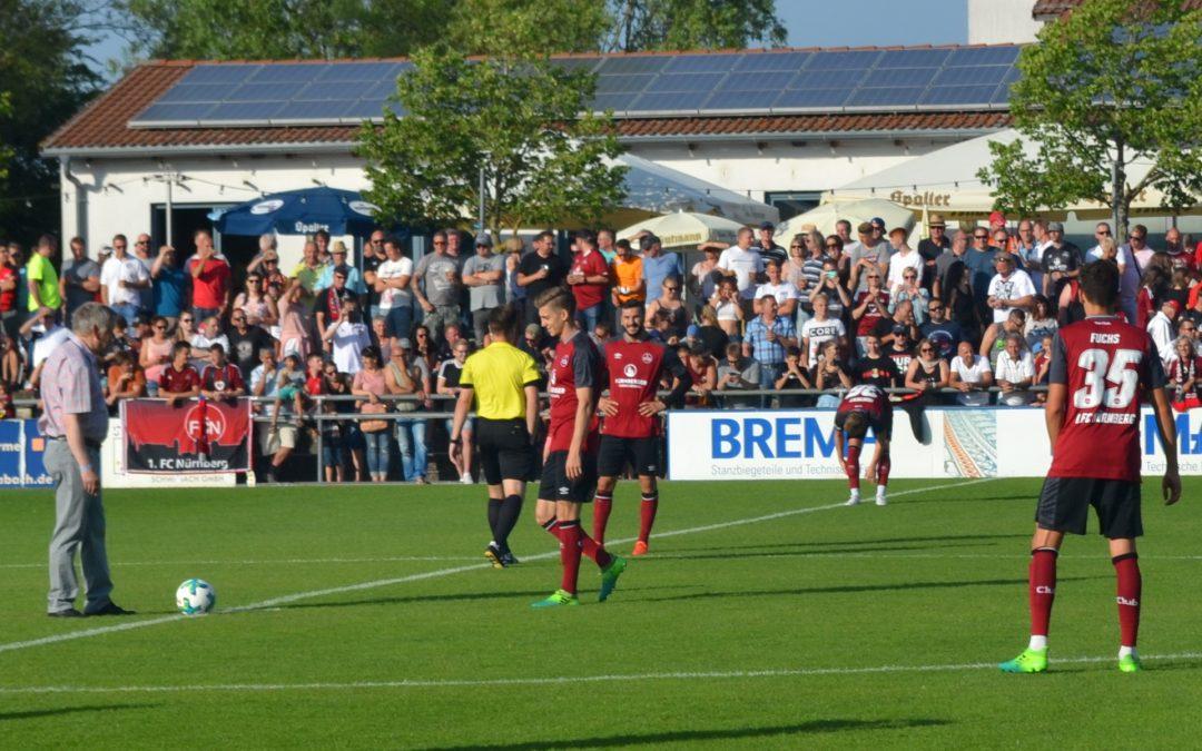 Freller machte Anstoß beim Freundschaftsspiel 1. FCN gegen SC 04