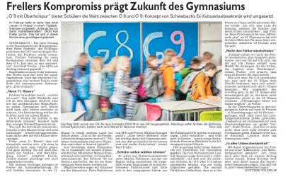 NZ: Frellers Kompromiss prägt Zukunft des Gymnasiums