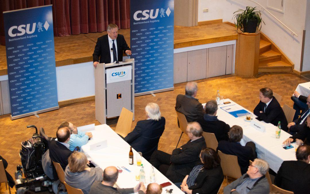 Landtagsvizepräsident Freller beim traditionellen  Ascherdonnerstag der CSU in Augsburg