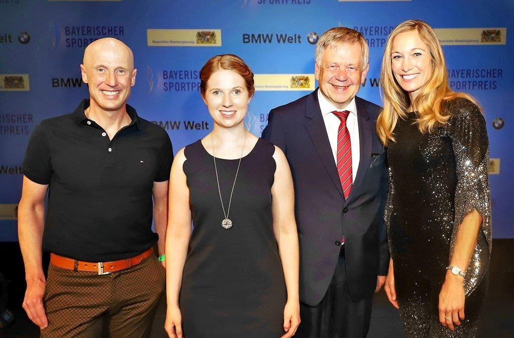 Landtagsvizepräsident Freller bei der Verleihung des Bayerischen Sportpreises