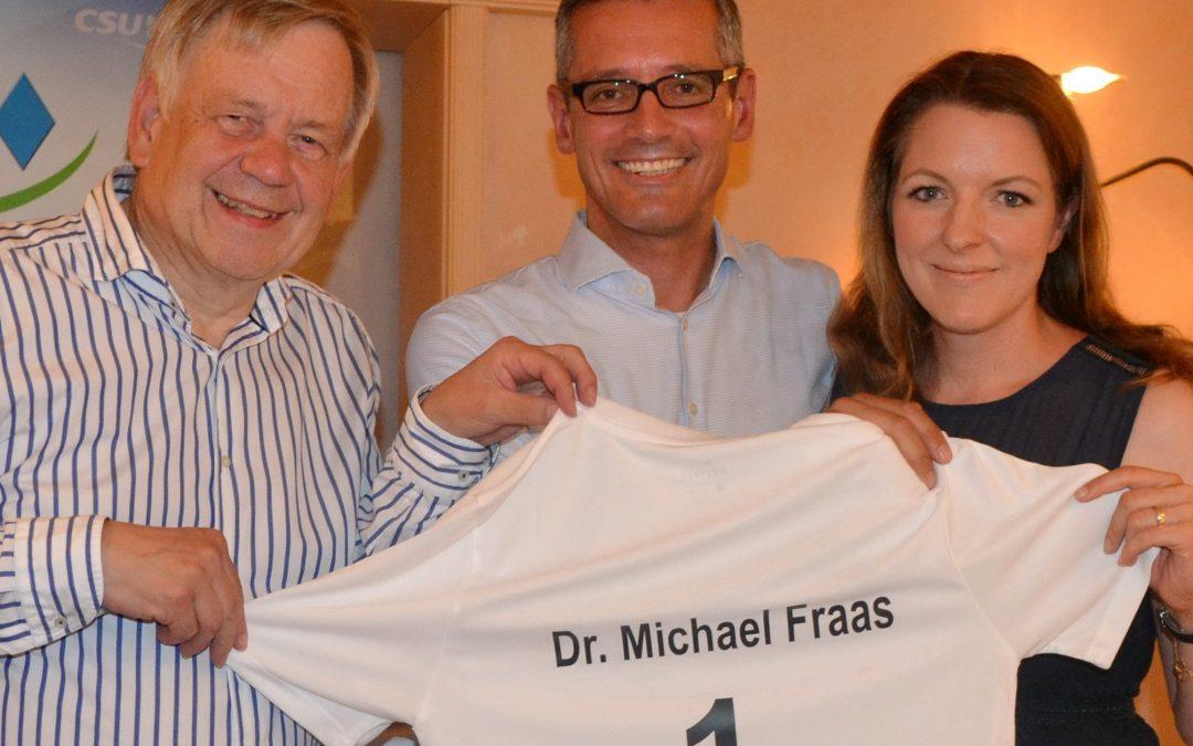 Nominierung der CSU Schwabach: 100 % für Dr. Michael Fraas als OB-Kandidat