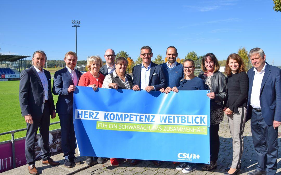 Jünger und weiblicher: CSU Schwabach präsentiert Kandidatenliste zur Stadtratswahl