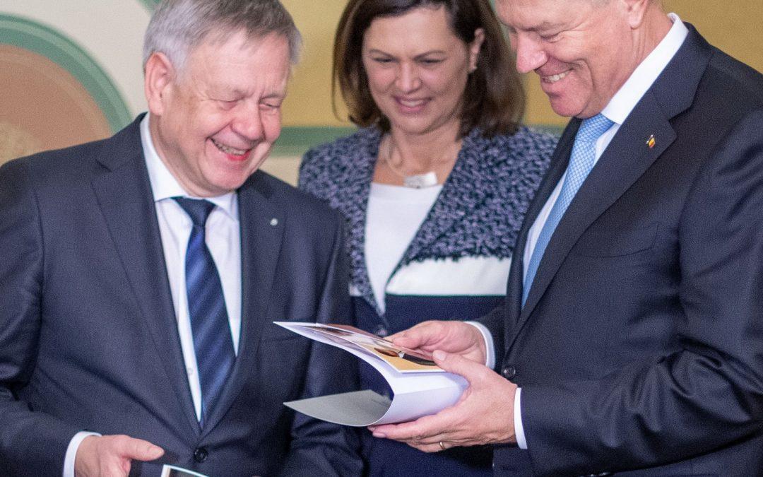 Freller trifft rumänischen Staatspräsidenten – Gespräch mit Klaus Johannis im Bayerischen Landtag
