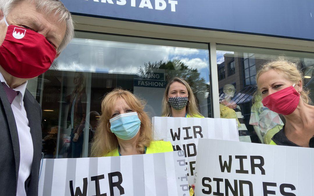 """""""Stehen an der Seite der Karstadt-Mitarbeiter"""" – Freller setzt sich für Karstadt ein"""