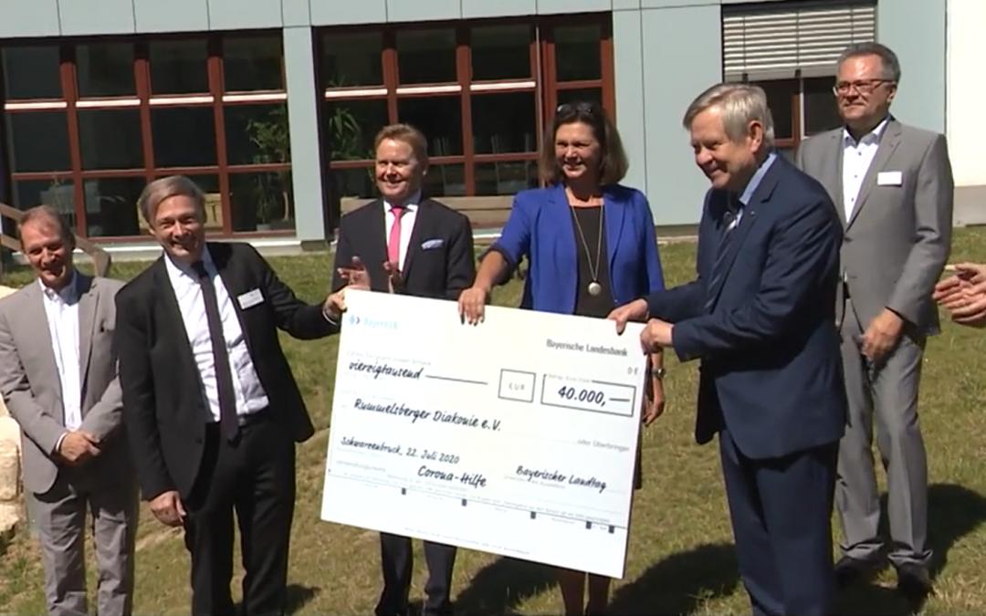 Landtag spendet an Rummelsberger Diakonie