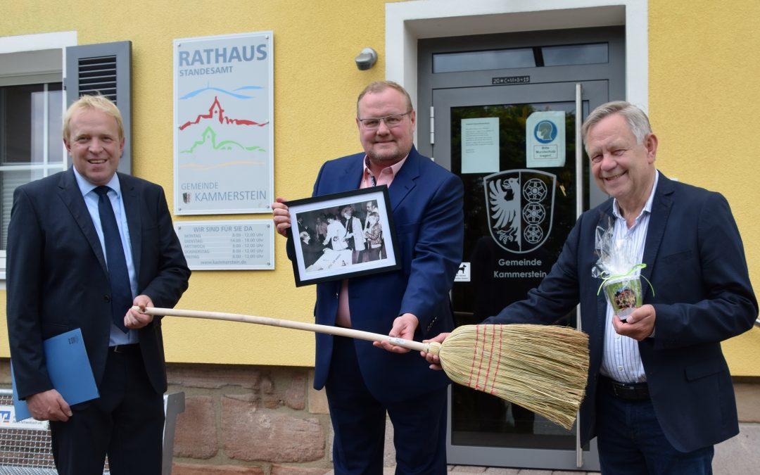 Im Gespräch mit Wolfram Göll – Landtagsvize Freller besucht neuen Kammersteiner Bürgermeister