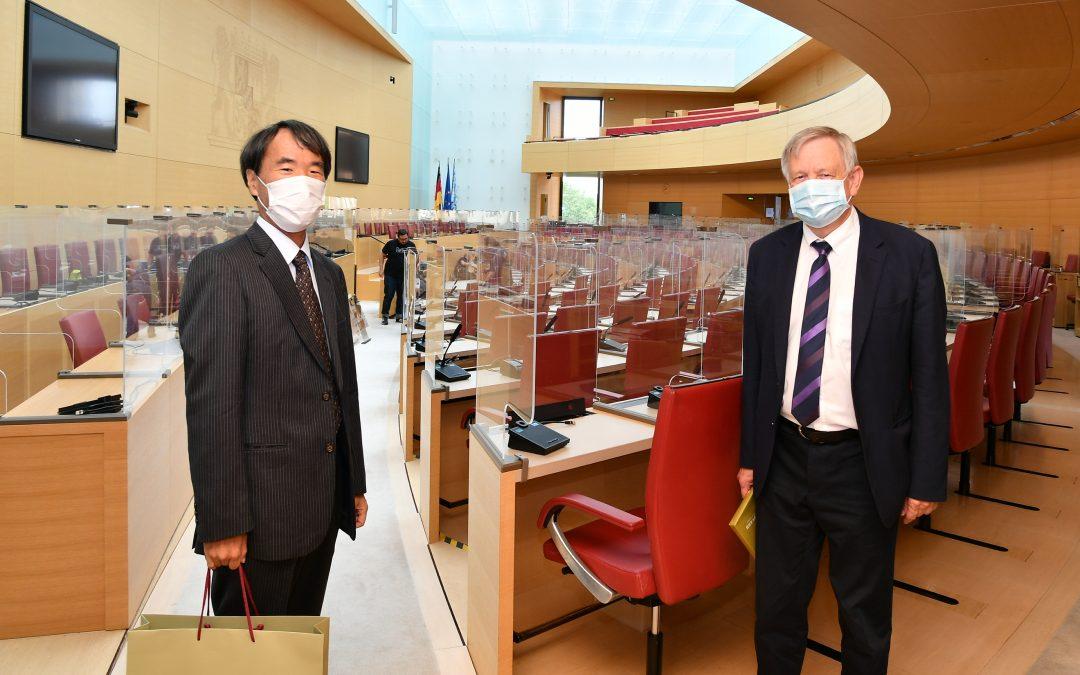 Freller empfängt hohen japanischen Besuch im Landtag
