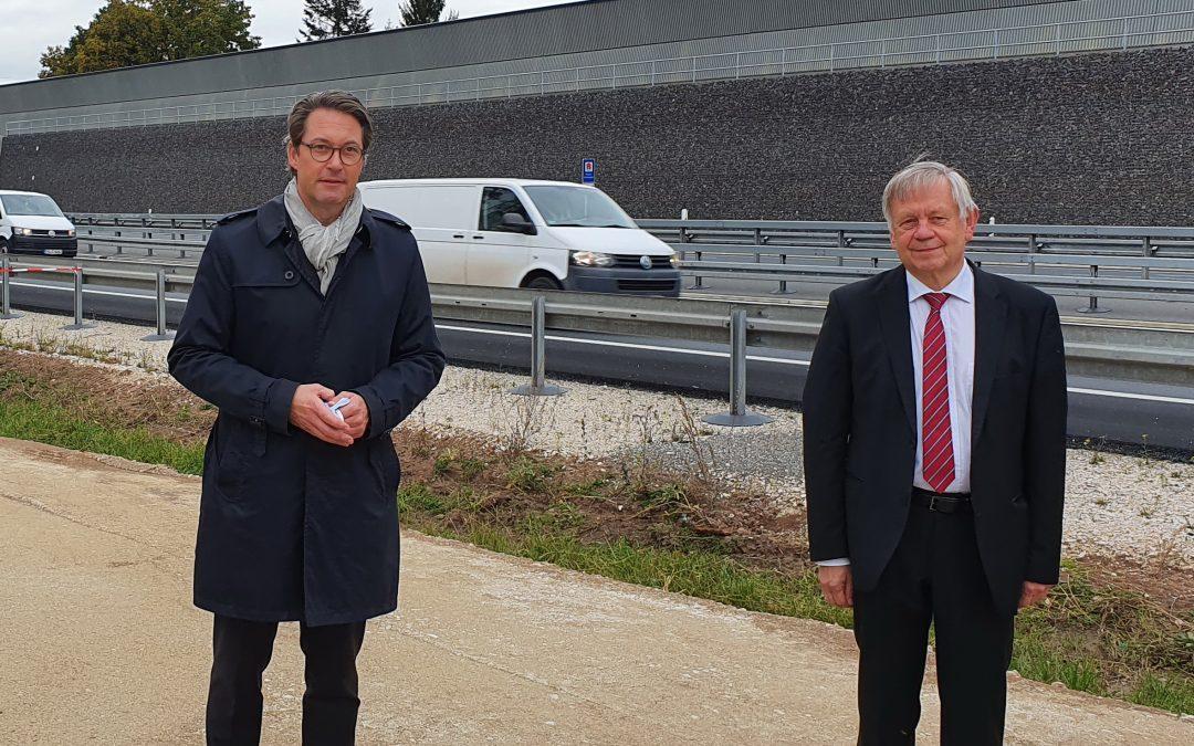 Sechsspuriger Ausbau der Autobahn A6 bei Schwabach fertig