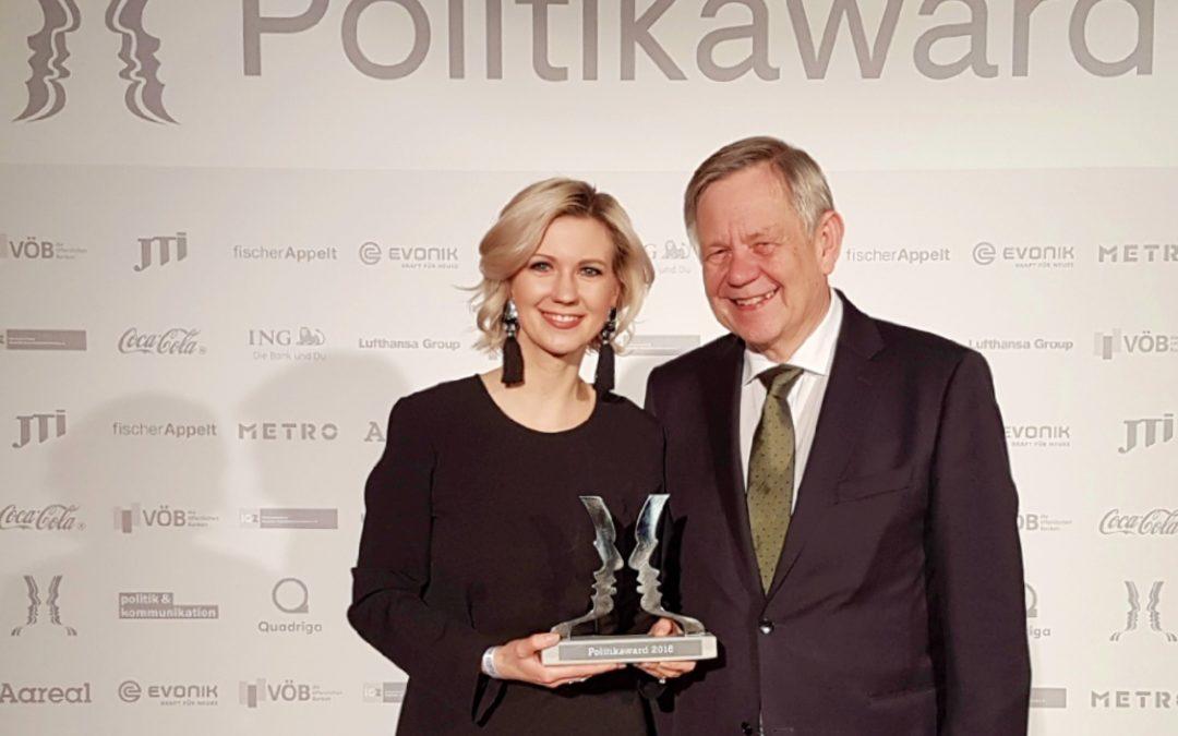 Verleihung des Politikawards in Berlin
